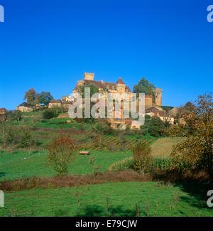 Castelnau-Bretenoux Castle Dordogne France - Stock Photo