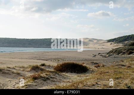 Playa de Bolonia, beach, Tarifa, Cadiz Province, Costa de la Luz, Andalusia, Spain - Stock Photo