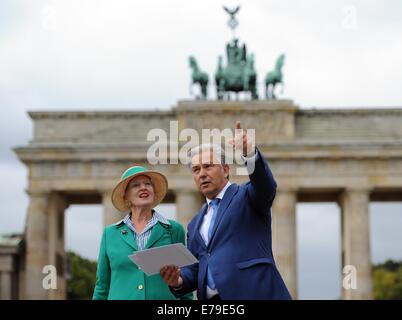 Berlin, Germany. 10th Sep, 2014. Queen Margrethe II of Denmark and Berlin's acting mayor Klaus Wowereit talk in - Stock Photo