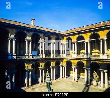 Palazzo di Brera palace Pinoteca art gallery Milan Lombardy Italy - Stock Photo