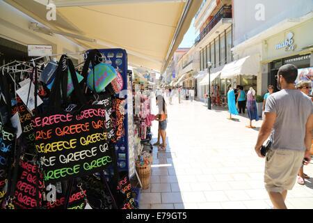 Souvenirs in Argostoli, Kefalonia, Ionian Islands, Greece - Stock Photo