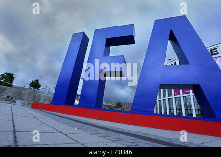 Berlin, Germany. 10th Sep, 2014. The writing IFA is pictured at the Berlin Radio Show (IFA) in Berlin, Germany, - Stock Photo