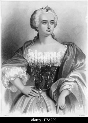 Maria Theresa (1717-1780), Archduchess of Austria, Queen of Hungary and Bohemia, Portrait - Stock Photo