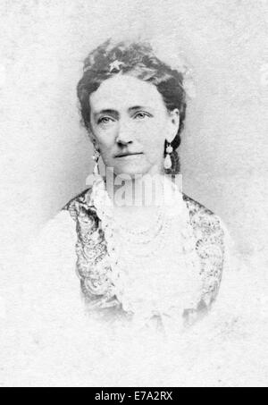 Louise of Hesse-Kassel (1817-1898), Wife and Queen Consort to King Christian IX of Denmark, Portrait, Pocket Card, circa 1866
