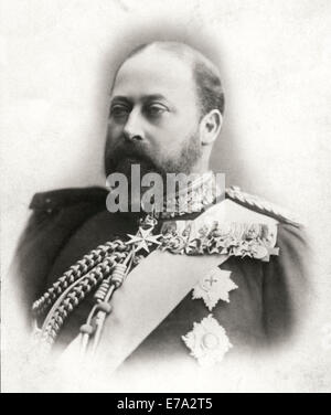 Edward VII (1841-1910) King of England 1901-10, Portrait as Prince of Wales, circa 1890 - Stock Photo