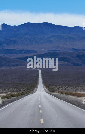 State Route 190 through Panamint Valley and over Panamint Range, Death Valley National Park, Mojave Desert, California, - Stock Photo