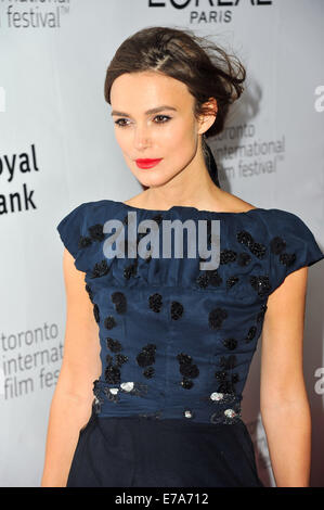 Toronto, Ontario, Canada. 10th Sep, 2014. Actress Keira Knightley attends the 'Laggies' premiere during the 2014 - Stock Photo