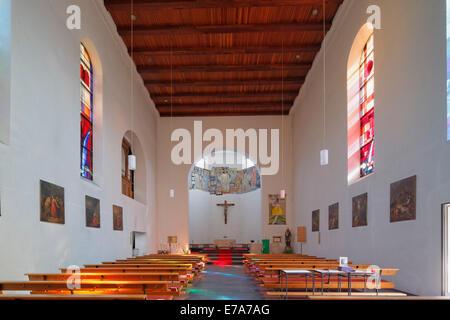 Parish Church of St. Pancras and Zeno, Altenstadt, Feldkirch, Rhine Valley, Vorarlberg, Austria - Stock Photo