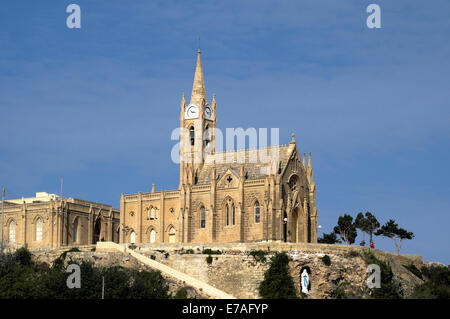 Lourdes Chapel, Mgarr, Gozo, Malta - Stock Photo