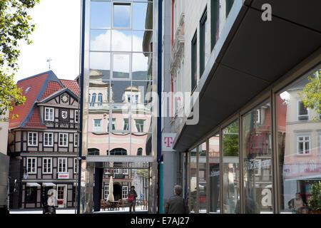 Pedestrian zone, Braunschweig, Brunswick, Lower Saxony, Germany, Europe, - Stock Photo