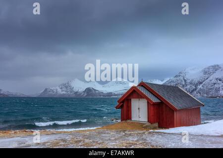 Rorbu in Lofoten islands in Norway