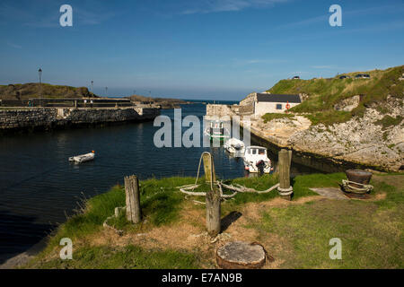 Ballintoy Harbour, County Antrim, Northern Ireland. The harbour featured in 2011 as Pyke Harbour in the HBO Television - Stock Photo