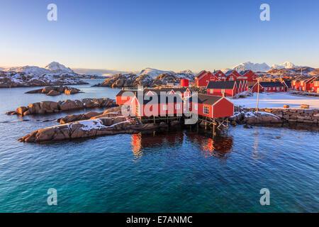 Fishing village in the Lofoten Islands - Stock Photo