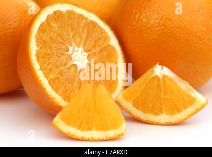 Fresh Oranges for juice preparation - Stock Photo
