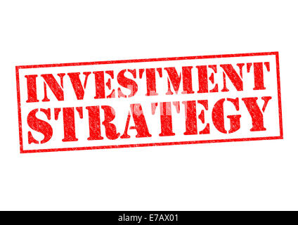 INVESTMENT STRATEGY red Rubber Stamp over a white background. - Stock Photo