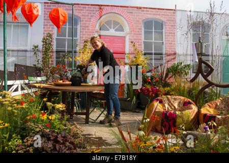 Harrogate, Yorkshire, UK. 11th Sept, 2014.  The Harrogate Annual Autumn Flower Show, Yorkshire Showground, ranked - Stock Photo