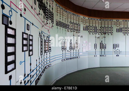 Old disused control room in the Transmission Control Center, TCC, of the transmission system operator 50Hertz, Neuenhagen - Stock Photo