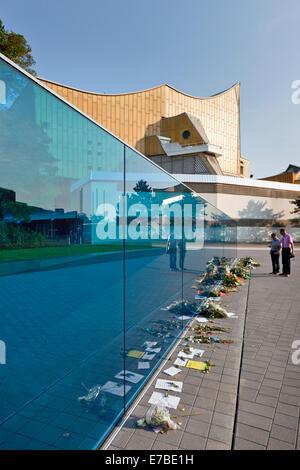 Memorial for the victims of the Nazi 'euthanasia program', design by architect Ursula Wilms, artist Nikolaus Koliusis - Stock Photo
