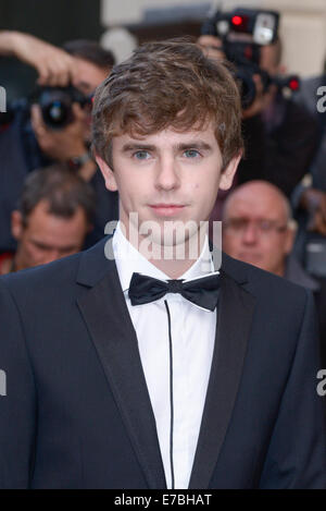 Freddie Highmore arrives at the GQ Men of the Year Awards on 02/09/2014 at Royal Opera House, London. Persons pictured: - Stock Photo
