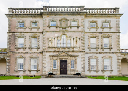 Front of Florencecourt, Northern Ireland, an aristocratic stately home in the style of Downton Abbey. - Stock Photo