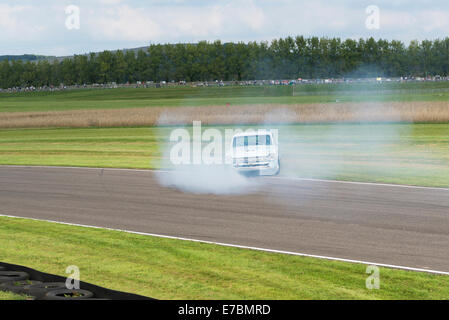 Chichester, West Sussex, UK. 12th September, 2014. Goodwood motor circuit, On the opening day of the three day event, - Stock Photo