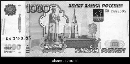 Banknote Russia,1997,Russia, 1000 rubles - Stock Photo