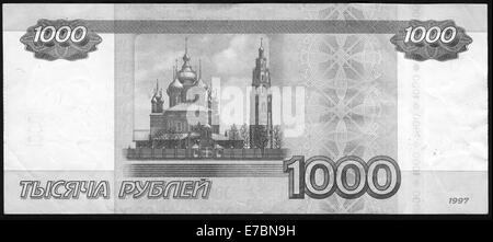 Banknote Russia,1997, Russia, 1000 rubles - Stock Photo