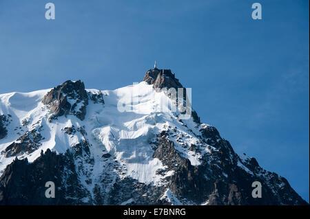 Aguille Du Midi, French Alps, Chamonix, France - Stock Photo