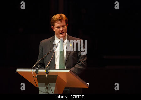 Edinburgh, Scotland, UK. 12th September, 2014. The Peoples Question Time at the Usher Hall with Danny Alexander - Stock Photo
