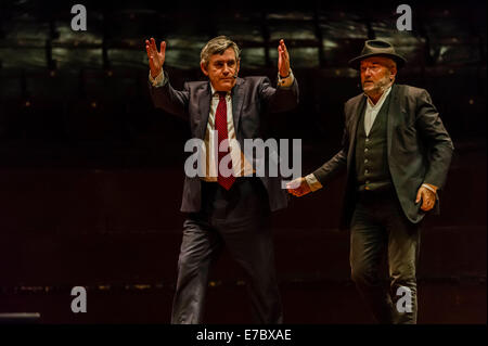 Edinburgh, Scotland, UK. 12th Sep, 2014. Gordon Brown puts in a performance at The Peoples Question Time at the - Stock Photo