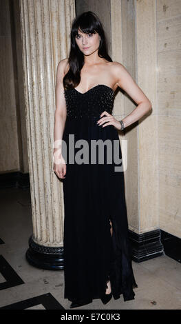 London,England, 12th Sept 2014 : Marissa Montgomery attends the LFW SS15: Azerbaijan  born Gyunel a UK based label - Stock Photo