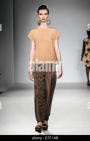 London,England, 12th Sept 2014 : Hosts of Vip's and guests attends the LFW SS15: Azerbaijan  born Gyunel a UK based - Stock Photo