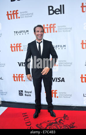 Toronto, Ontario, Canada. 12th Sep, 2014. Actor JEAN DUJARDIN attends 'The Connection' premiere during the 2014 - Stock Photo