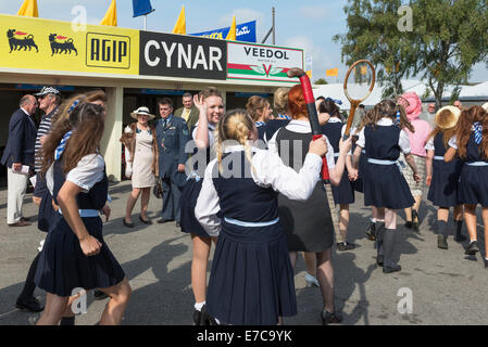 Chichester, West Sussex Uk. Saturday 13th September 2014. Goodwood Revival, Goodwood motor circuit. On the second - Stock Photo