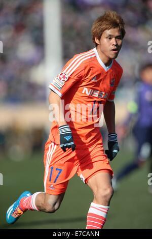 Tokyo, Japan. 22nd Feb, 2014. Naoki Ishihara (Sanfrecce ...