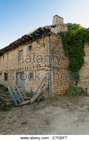 Detail of the architecture in Calatanazor, Soria, Spain - Stock Photo