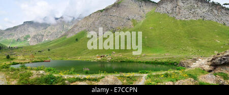 Rainbow Lake, Gilgit Baltistan, Pakistan - Stock Photo