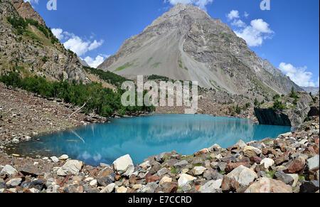 Naltar Lake, Gilgit Baltistan, Pakistan - Stock Photo
