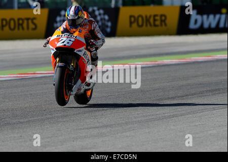 Misano, San Marino. 13th Sep, 2014. MotoGP. San Marino Grand Prix Qualifying. Dani Pedrosa (Repsol honda) during - Stock Photo