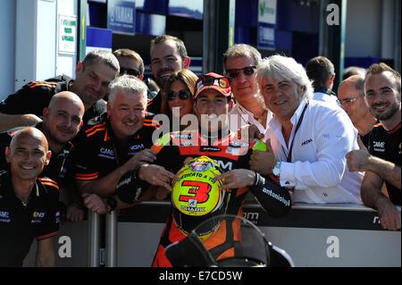 Misano, San Marino. 13th Sep, 2014. MotoGP. San Marino Grand Prix Qualifying. Aleix Espargaro(NGM Foward) during - Stock Photo