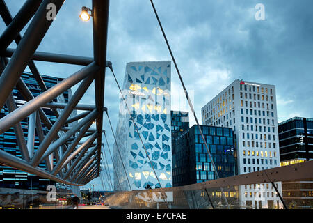 Oslo, Norway. The Barcode buildings. Financial district. - Stock Photo