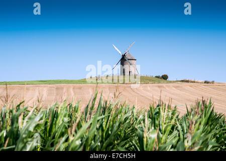 Moulin de Moidrey near abbey Mont Saint Michel, Pontorson, Normandy, France. - Stock Photo
