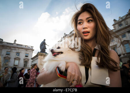 London, UK. 12th Sept, 2014.  London Fashion Week 2014 Credit:  Guy Corbishley/Alamy Live News - Stock Photo