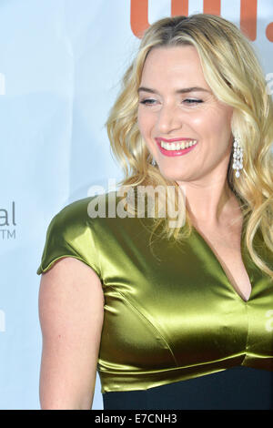 Toronto, Ontario, Canada. 13th Sep, 2014. Actress KATE WINSLET attends 'A Little Chaos' premiere during the 2014 - Stock Photo