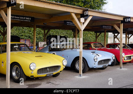 Chichester, West Sussex UK. Sunday 14th September 2014. Goodwood revival, Goodwood motor circuit. On the final day - Stock Photo