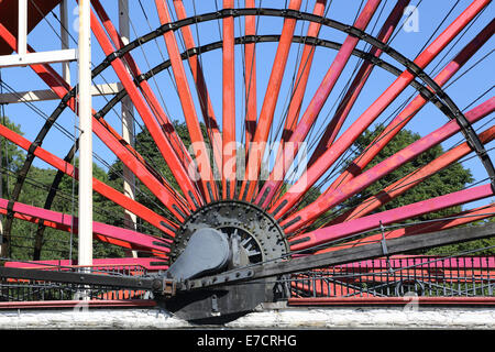 the great wheel at laxey on the east coast of the isle of man - Stock Photo