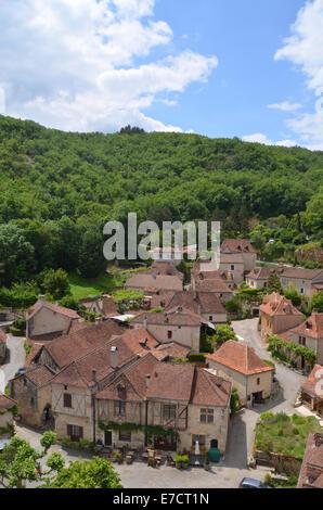 St Cirq la Popie, beautiful village in the Lot Region of SW France, May 2014 - Stock Photo