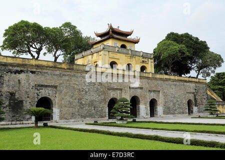 Gateway at the ancient citadel in Hanoi, Vietnam. - Stock Photo