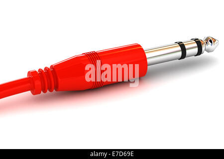 A Colourful 3d Rendered Illustration of a Jack Plug - Stock Photo