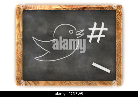 A Colourful 3d Rendered Concept Illustration showing a hashtag, representing Social Media - Stock Photo